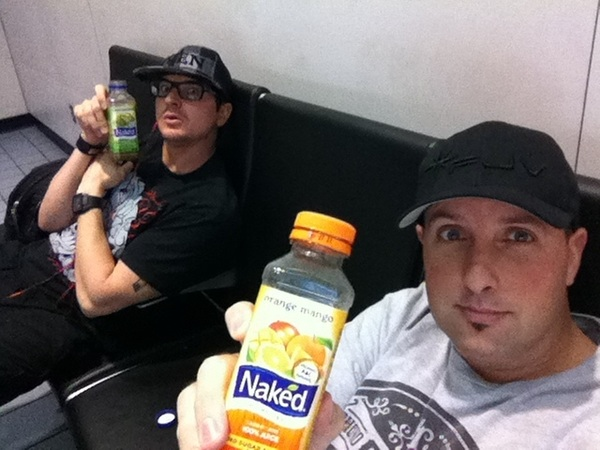 Me and  @Zak_Bagans both ended up getting Naked at the airport before our next flight