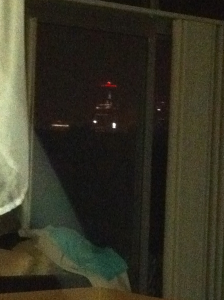  This will be my last week seeing a view of downtown KC from my bed.. To the burbs I go. It's #bittersweet feelin