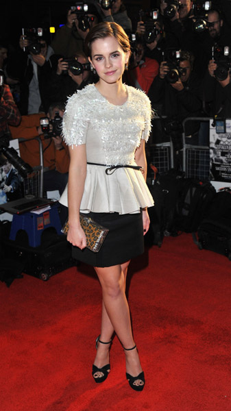 "Emma Watson at UK premiere of ""My Week with Marilyn"" in Jason Wu. More later. @MissWu_NY"