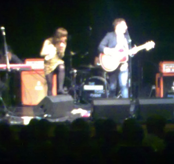 Stunning 'acoustic' (ahem) set by @Airborne_Toxic at the Pleasance. Big cajones to cover Cash. Worked tho