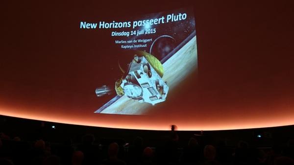 """Bij lezing over reis die """"New Horizons"""" heeft afgelegd naar Pluto in @infoversum"""