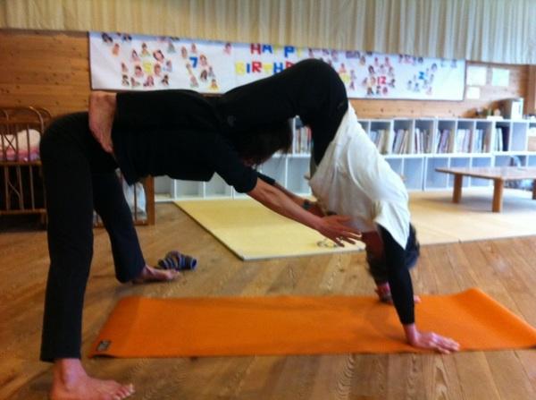 Partner Yoga  Yuki♥Takayuki       instructor   Ayumi&Eiji Jikuya