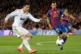 El pequeno cristiano Ronaldo en el Clasico. #Clasico  @FCBarcelona_es ☺