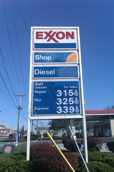 The Price of Gas, 2008 versus 2011