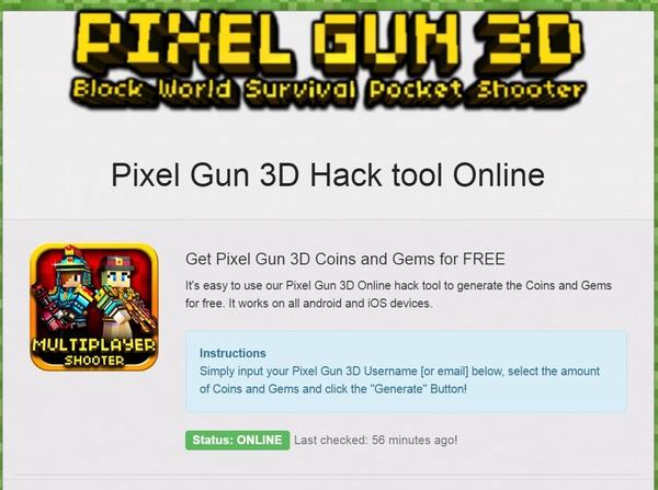 gem generator for pixel gun 3d