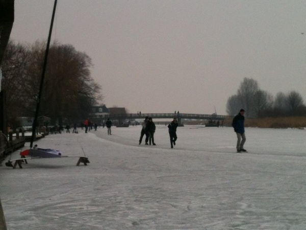 Het laatste dagje schaatsen op de Kaag meegepakt! Prachtig!