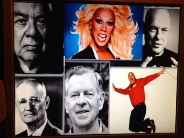 How did this motley crew end up on my desktop? @RuPaul @gitomer #BrianEno #