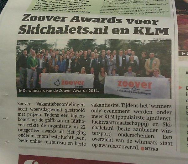 Zoover Awards in de media