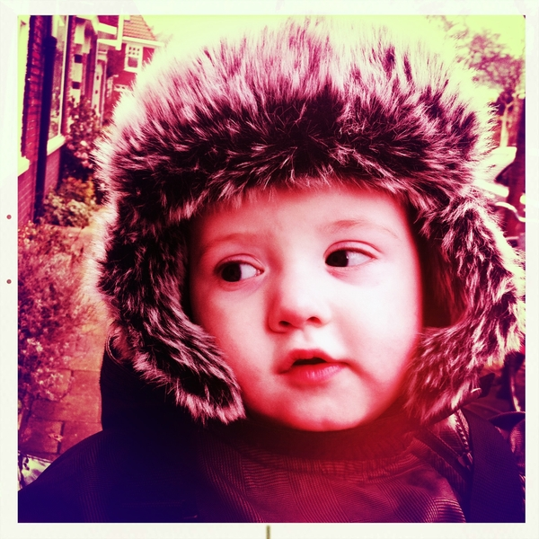 Fletcher of the day: baby it's cold outside!