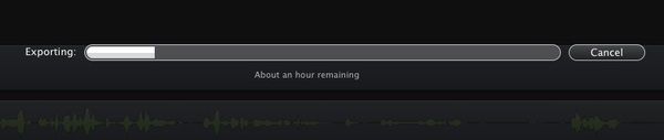 Exporting video from @screenflow can take a while