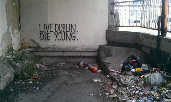 Strangely poignant wall scribbling #dublin