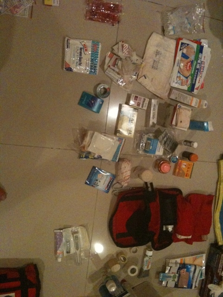 Clearing up the first aid kit