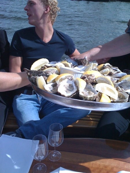 Wow. We have oysters. #sail
