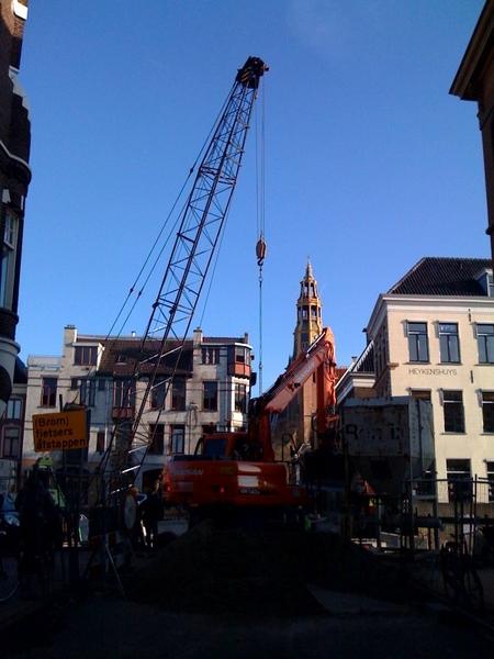De bouw duurt en duurt maar bij de Aweg. #groningen