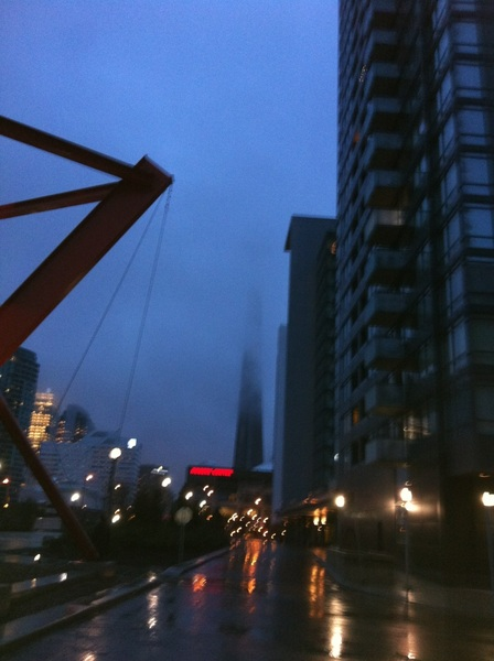 Just a little bit of fog during my walk to work this morning. CN tower?