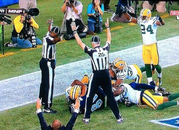 Anoche robaron a los Packers. Que vaina con la inseguridad.
