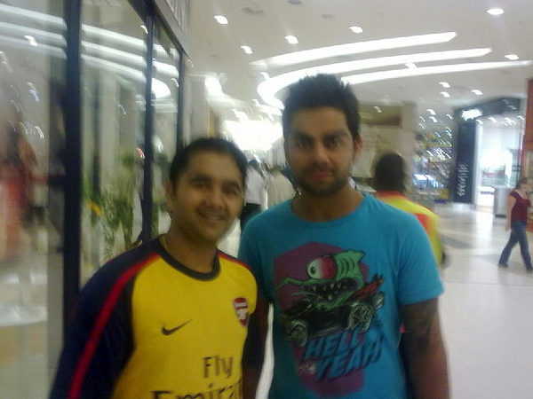 With #ViraatKohli in Sandton Mall. #JohannesburgRocks