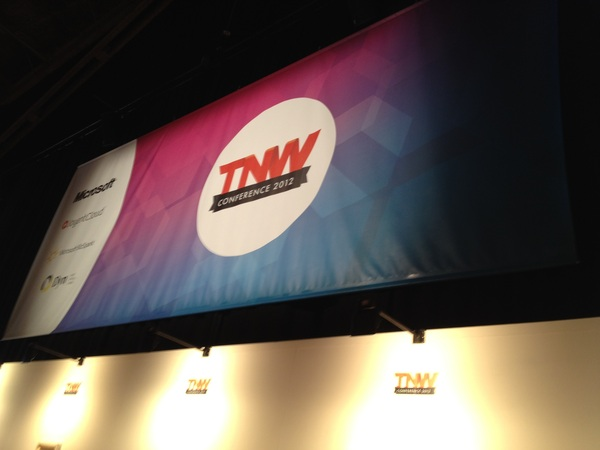 That's my artwork, looking pretty damn awesome! #tnw #tnw2012