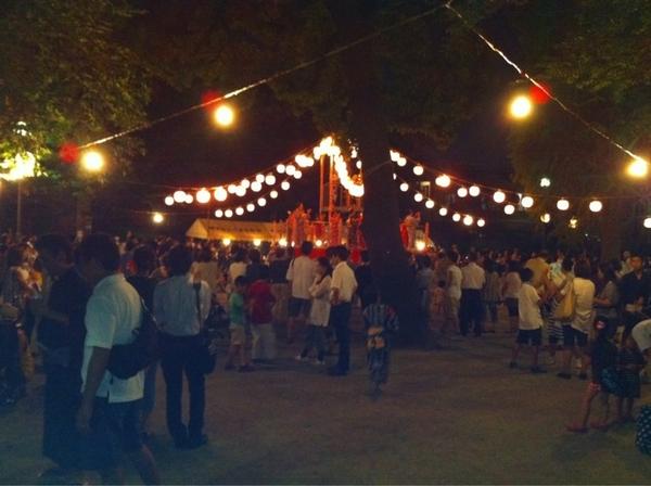 碑文谷公園でお祭り