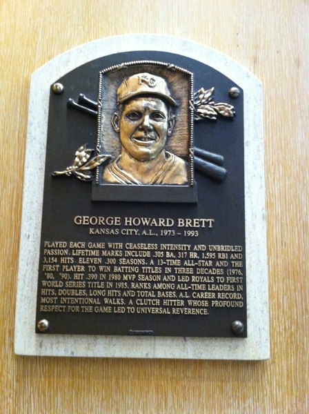 What do George Brett, Ted Williams, Carson & Mike Foley all have in common? All in  National Baseball HOF today!
