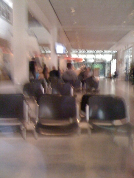 Blurred view but still able to find my way around: waiting 65 min to renew drivers licence at city council!