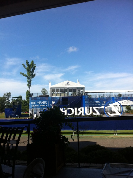 Ready for day 3 here at the #ZurichClassic. Beautiful day with a decent breeze blowing again. Ten back so #golow!! #fb