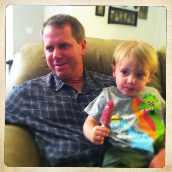 Fletcher of the day: Popsicle and Uncle Jason