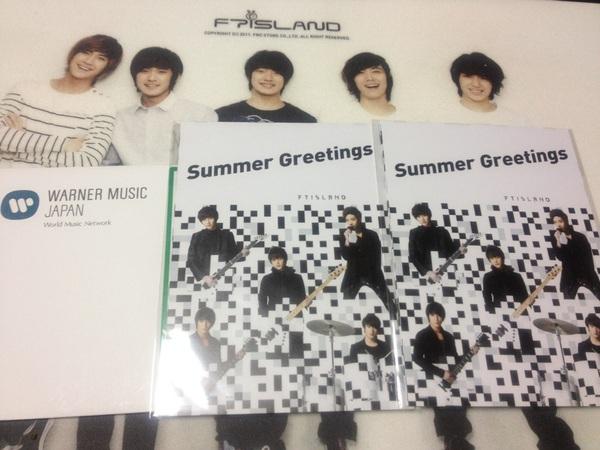 Summer Greetingsが届きました(*^^*) ありがとう(^人^)落ち込んでたから何か嬉しくなったよ(^_−)−☆
