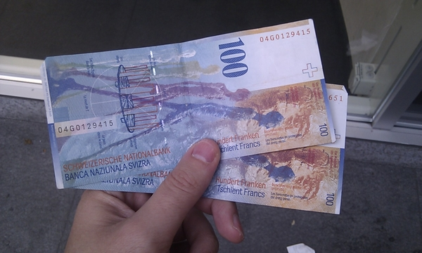 Monopolie geld, dat CHF!