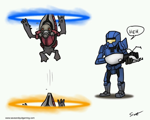 @bsangel is currently tinkering around with a new ability for Master Chief: #Portal Holes #Halo #MashUp (Thanks Valve)
