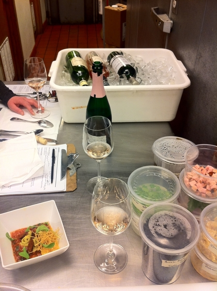 "Doing final tasting of new ""Day in Merida, Yucatan"" tasting menu w Som Jill Gubesch."