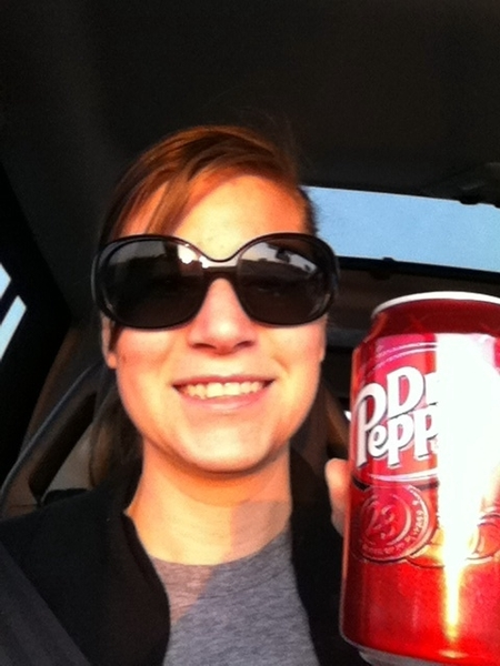 Early morning FW to Dallas.Is there anything better than that first taste of  @drpepper in the morning?#notocoffee