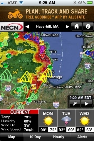 Severe storms blasting thru #Chicago - O'Hare gusts to 63mph, radar shows possible tornado near Waukegan. Radar: