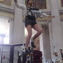 unicycle feats of daring in City Hall #spf09