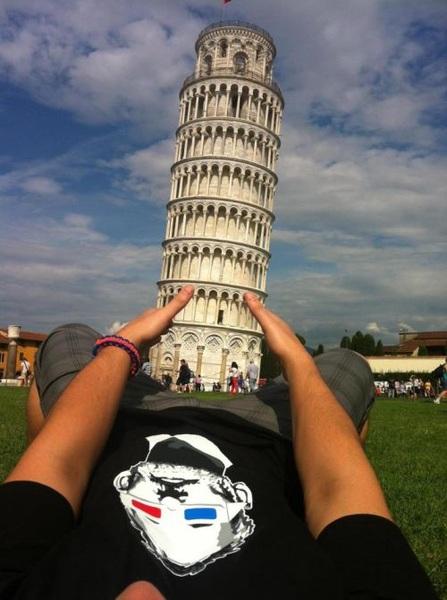 De toren van Pisa-foto, improved: