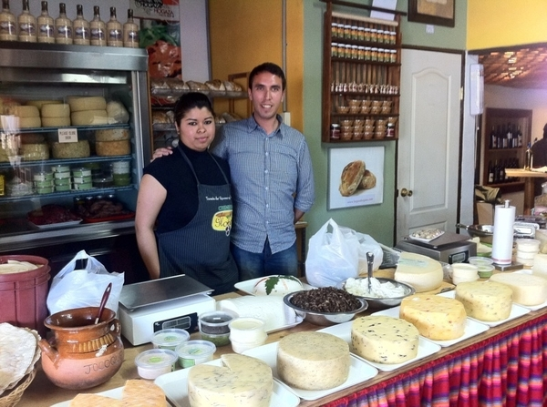 Valle de Guad shopping: Cremería los Globos: local products (EVOO, ates, breads, salsas), WONDERFUL local cheeses!