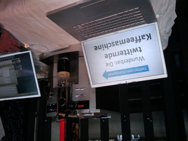 @blankomat twittering coffee machine #next09