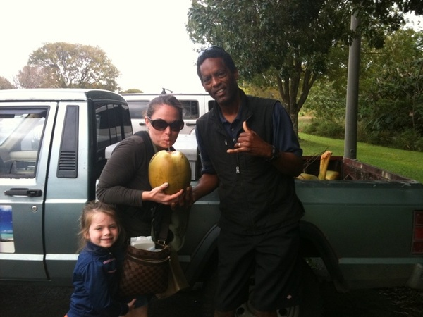Vince from Big Island Coconuts, Franny and me In #Hilo #Kona #Hawaii @startuphawaii