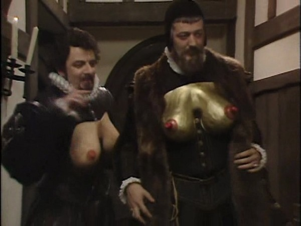 The comedy breasts really do suit @stephenfry, don't they.