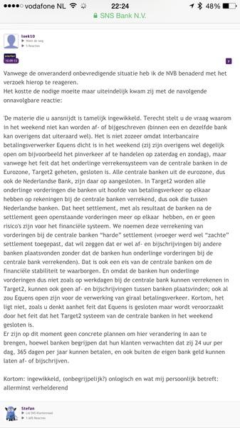 @alffen Klopt, want geen interbancaire settlement via Equens nodig. Zie ook deze uitleg: