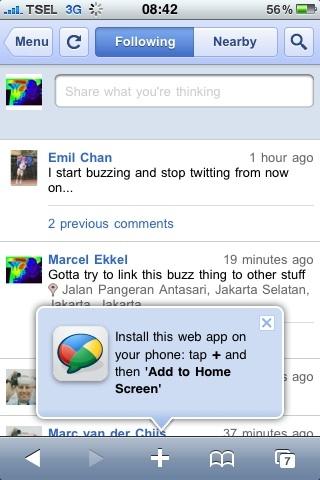"Gott the buzz ""app"" on ho"