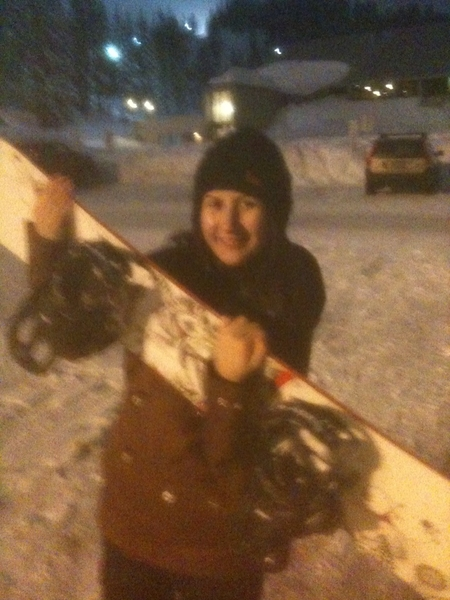 I did great! 2nd time snowboarding, 1st was 4 yrs ago! :) Didn't even plan 4 it, arrived @ 7pm @ Mt. Hoot Meadows