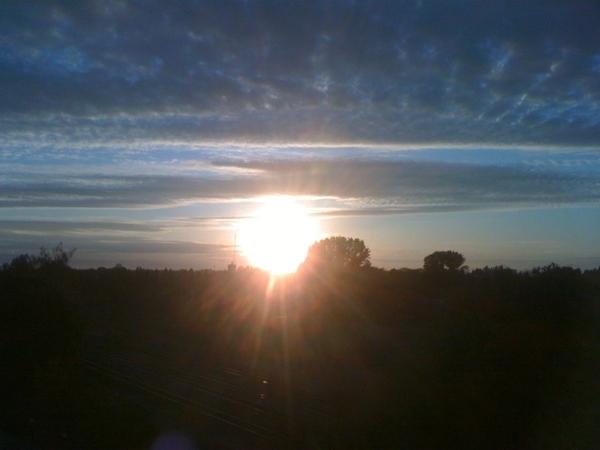#zonsondergang 18-05-2011 #lente #volgdenatuur