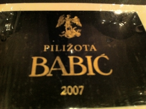 Sepia: great service, wine list. Drank beautiful Dalmatian (Croatian) babič (Grenache-like?).
