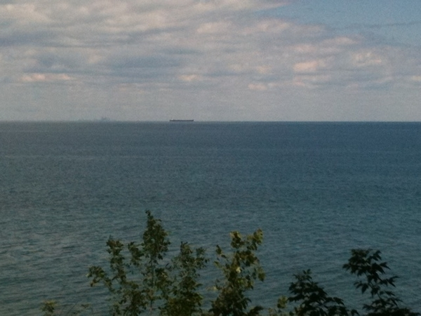 Sitting at the lake in Niagara looking across to Toronto, contemplating which wine to pick for dinner.