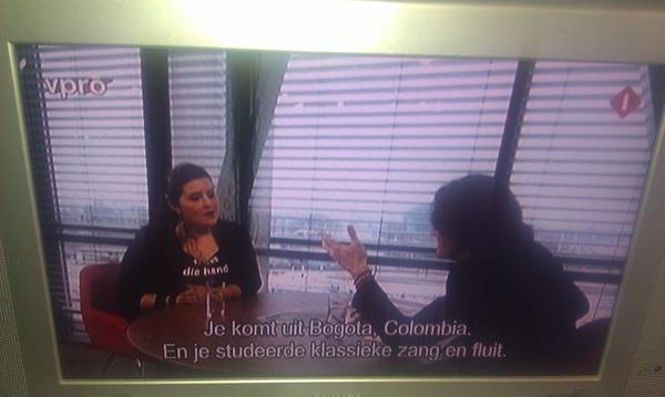 Cumbia de Bogotá en la tele holandesa @vrijegeluiden. Orquesta Maguare. @andreash1