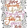 LOVE YOURSELF 1st & everything else will fall into place #LucilleBall - We couldn't agree more!!
