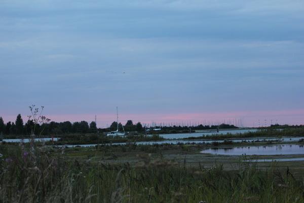Rode zonsondergang Medemblik-Vooroever 29/8/2015 #buienradar