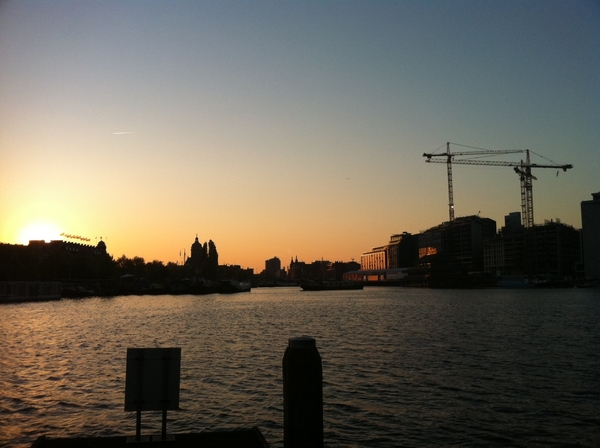 You got to love Amsterdam in the summer... #sunset #boat cc/ @panman