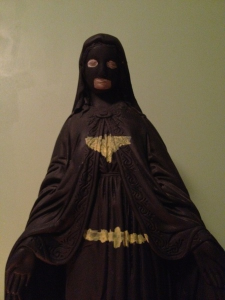 Virgin mary bat man...